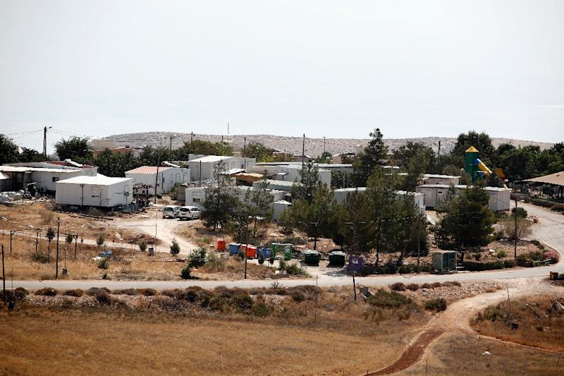The Israeli settlement of Mitzpe Kramim, near Ramallah in the occupied West Bank, seen on August 29, 2018