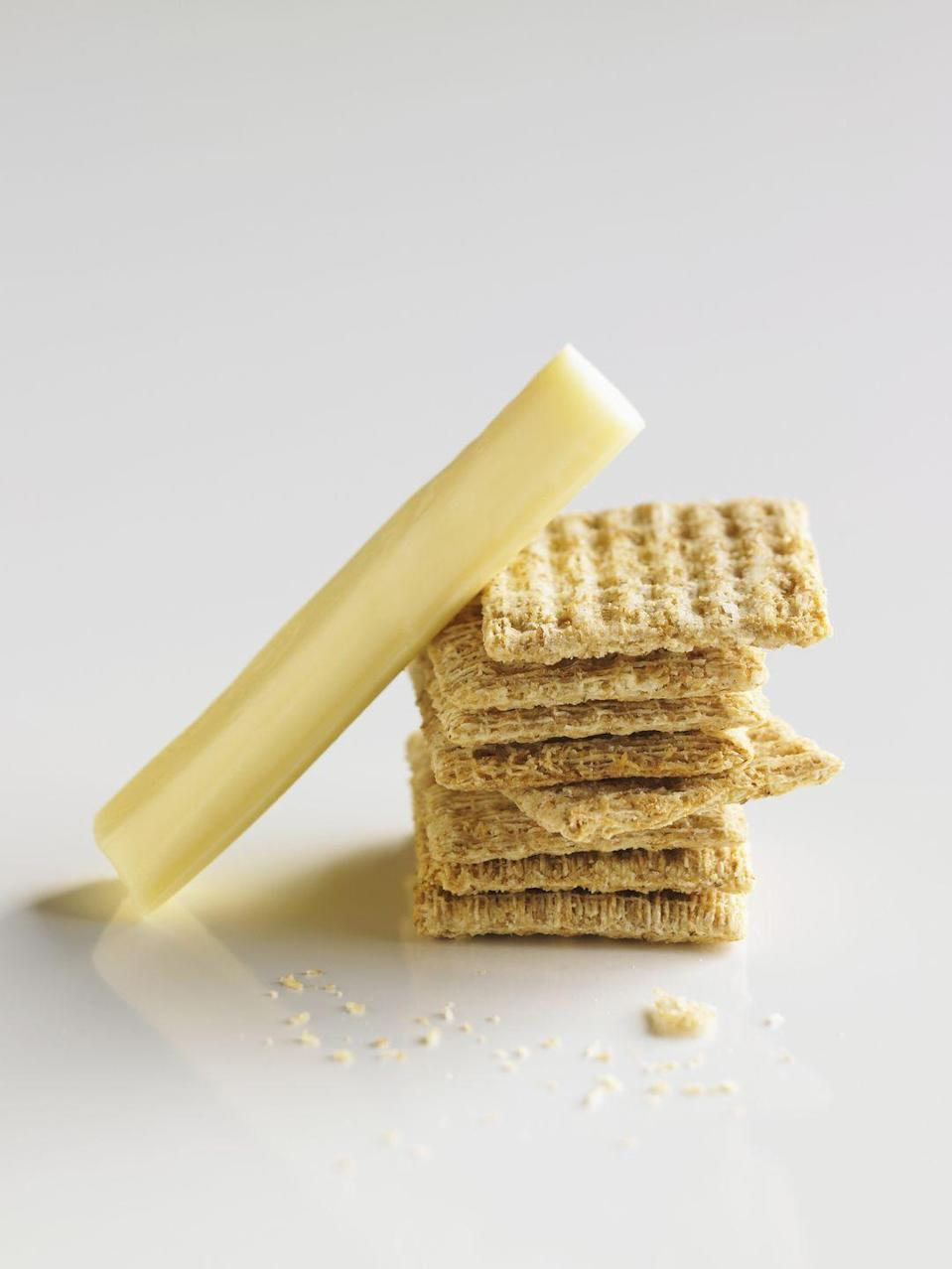 <p>Wow, you're fancy. No, but seriously, if you're having a glass of wine, it'd be a sin *not* to nibble on cheese and crackers at the same time. </p>
