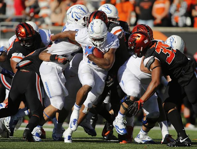 Boise State's Jeremy McNichols is one of the more underrated backs in the country. (AP Photo/Timothy J. Gonzalez)