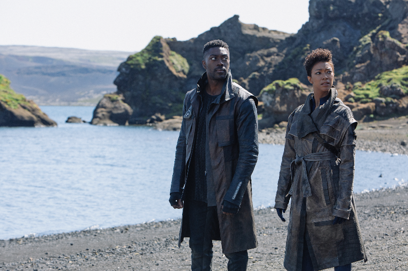 David Ajala as Book and Sonequa Martin-Green as Burnham in 'Star Trek: Discovery' (Lilja J--nsd--ttir/CBS/CBS Interactive.)