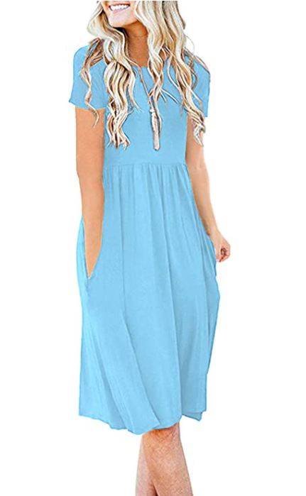 This dress pairs perfectly with a statement necklace. (Photo: Amazon)
