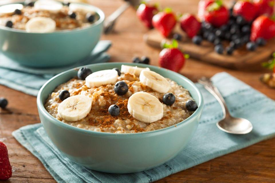 <p>Add in a tablespoon or two of PB powder to boost the nutrition and flavor of your AM oatmeal. Then mix in some fruit for an even more powerful AM punch. </p>