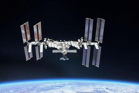 FILE PHOTO: File photo of the International Space Station (ISS) photographed by Expedition 56 crew members from a Soyuz spacecraft after undocking, Oct. 4, 2018. NASA/Roscosmos/Handout via REUTERS