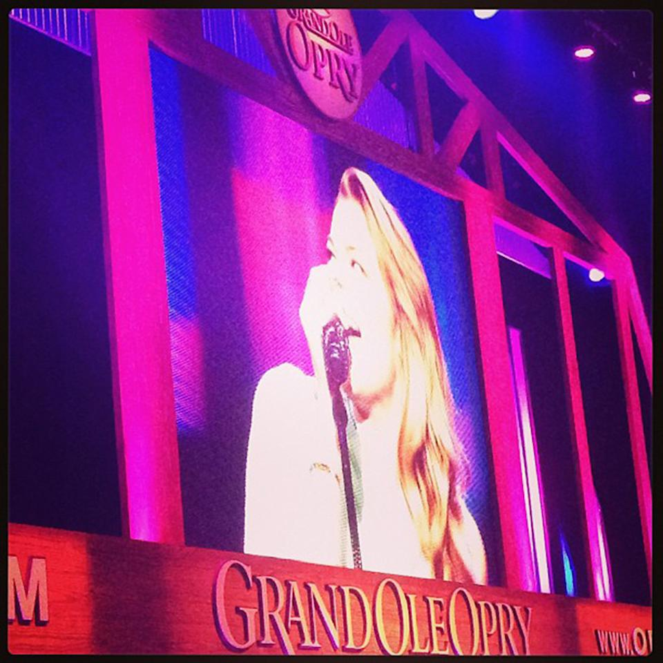 """Performing #Spitfire at the #Opry!#instagramtakeover #omgleannrimes"""