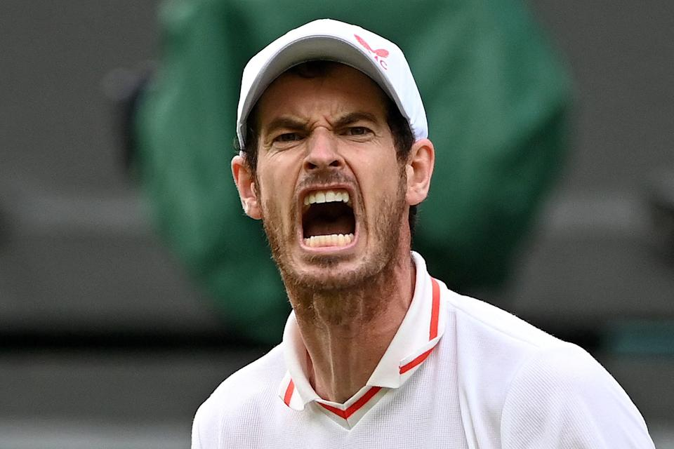 Andy Murray is back in singles action at Wimbledon for the first time since 2017 (AFP via Getty Images)