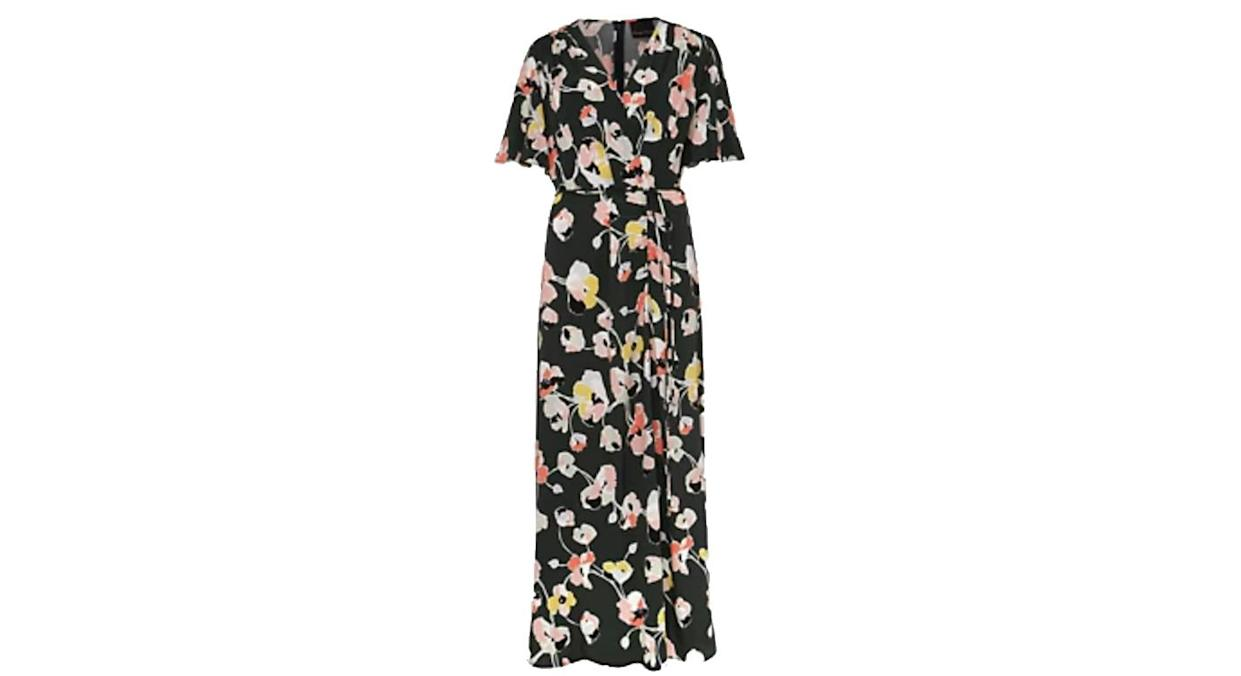 PHASE EIGHT Floral V-Neck Tie Front Midaxi Wrap Dress