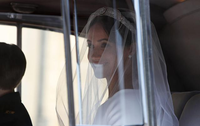 <p>The tiara was made in 1932 and is made of diamonds and platinum. (Photo: Alastair Grant/AFP/Getty Images) </p>