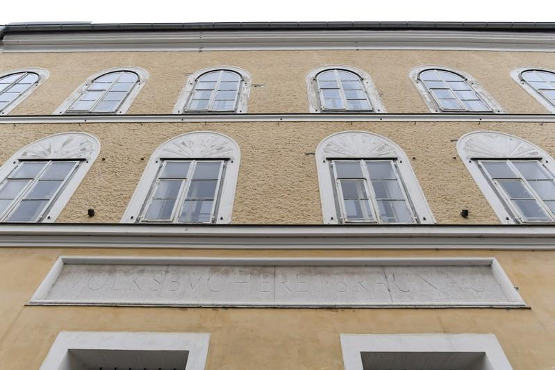General view the house where Adolf Hitler was born in Braunau