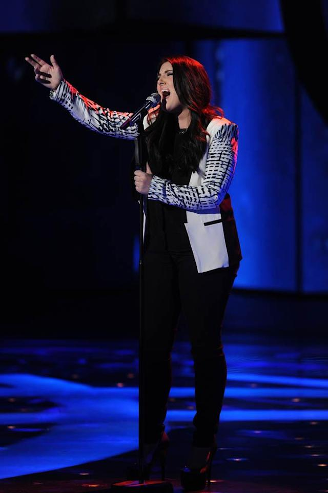 "Kree Harrison performs Roy Orbison's ""Crying"" on the Wednesday, March 13 episode of ""American Idol."""