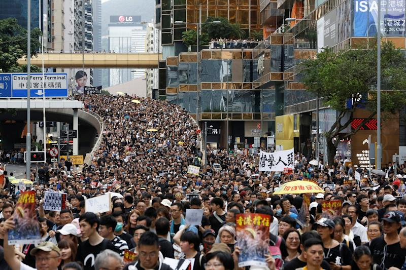 A mass protest in Hong Kong (Reuters)