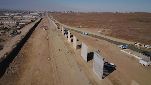 "<p>Six contractors constructed eight prototype border wall sections on Otay Mesa in the competition to build President Trump's ""Big Beautiful Wall"" in San Diego, Calif., on Oct. 26, 2017. (Photo: John Gibbins/TNS via ZUMA Wire) </p>"