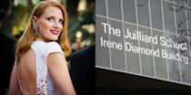 """<p><strong>The Julliard School </strong><br></p><p>Chastain graduated from The Julliard School, where she was training in theater, in 2003. The actress was able to attend the performing arts university due to a full <a href=""""https://www.etonline.com/news/149692_jessica_chastain_reveals_robin_williams_gave_her_a_scholarship_to_juilliard"""" rel=""""nofollow noopener"""" target=""""_blank"""" data-ylk=""""slk:scholarship from Robin Williams"""" class=""""link rapid-noclick-resp"""">scholarship from Robin Williams</a>, who himself graduated from there in 1976. </p>"""