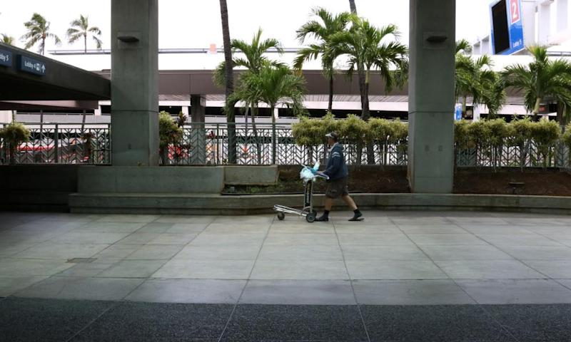 The international airport in Honolulu, seen in April. Coronavirus has essentially halted Hawaii's tourism.