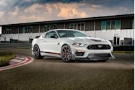 "<p>The <a href=""https://www.caranddriver.com/ford/mustang"" rel=""nofollow noopener"" target=""_blank"" data-ylk=""slk:Ford Mustang"" class=""link rapid-noclick-resp"">Ford Mustang</a> family has a legendary history and is populated by models with diverse personalities. This year, that history is recalled by the revival of the Mach 1 moniker, first seen on the 1969 'Stang. The 2021 Mustang will still come as a coupe or a convertible, and its stable of high-performance offerings will be as full as ever. Whether it's the turbocharged four-cylinder EcoBoost or the V-8-powered GT, every version of the original pony car can be armed with track weaponry to challenge its <a href=""https://www.caranddriver.com/chevrolet/camaro"" rel=""nofollow noopener"" target=""_blank"" data-ylk=""slk:Chevy Camaro"" class=""link rapid-noclick-resp"">Chevy Camaro</a> or <a href=""https://www.caranddriver.com/dodge/challenger"" rel=""nofollow noopener"" target=""_blank"" data-ylk=""slk:Dodge Challenger"" class=""link rapid-noclick-resp"">Dodge Challenger</a> counterparts. The Ford's beautiful bodywork, vast personalization options, and practical interior also make it desirable to folks who care less about lap times and more about sporty everyday transportation. And that's why the Mustang continues to be an icon: it offers something for everyone.</p><p><a class=""link rapid-noclick-resp"" href=""https://www.caranddriver.com/ford/mustang"" rel=""nofollow noopener"" target=""_blank"" data-ylk=""slk:Review, Pricing, and Specs"">Review, Pricing, and Specs</a></p>"