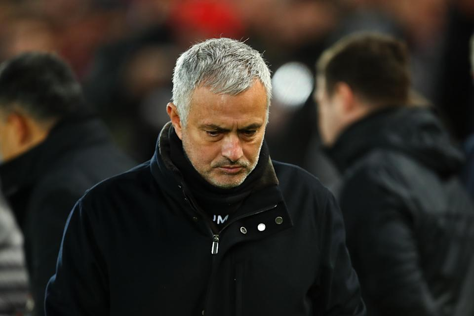 Jose Mourinho was dismissed by Manchester United in the wake of Sunday's 3-1 loss to Liverpool. (Robbie Jay Barratt/Getty)