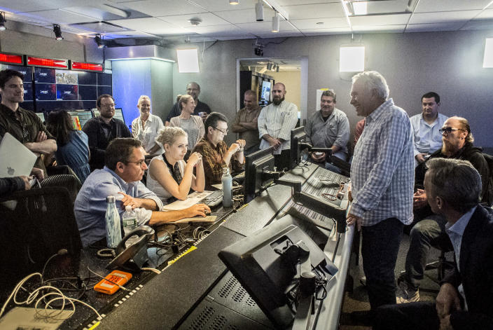 Image: Behind-the-scenes production of Live PD at the studio in New York in 2016. (Bill Tompkins / Getty Images file)