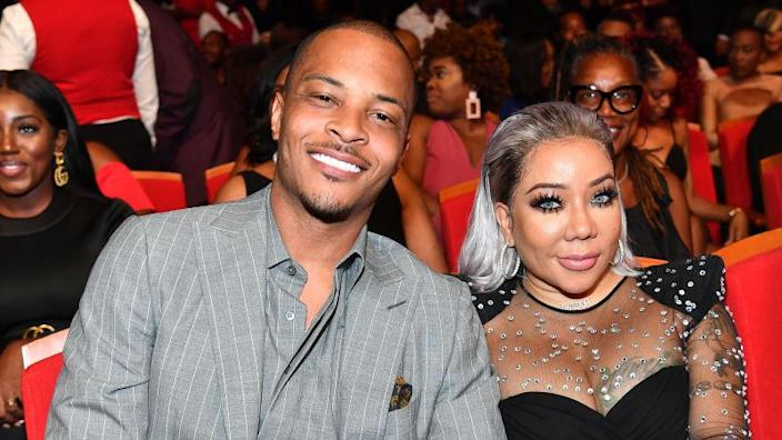 """T.I. and Tameka """"Tiny"""" Harris attend 2019 Black Music Honors on September 05, 2019."""