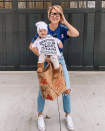 """<p>Print the store's logo, pin it onto a T-shirt, and slip on a pair of jeans. Just like that, you'll be your favorite grocery store employee. Bonus points if you have a little one that you can dress as your go-to store find. </p><p><a class=""""link rapid-noclick-resp"""" href=""""https://www.instagram.com/p/B3HfzN2gSOf/"""" rel=""""nofollow noopener"""" target=""""_blank"""" data-ylk=""""slk:SEE MORE"""">SEE MORE</a> </p><p><a class=""""link rapid-noclick-resp"""" href=""""https://www.amazon.com/Amazon-Essentials-Short-Sleeve-Crewneck-T-Shirt/dp/B0775PNGVF/?tag=syn-yahoo-20&ascsubtag=%5Bartid%7C10072.g.33547559%5Bsrc%7Cyahoo-us"""" rel=""""nofollow noopener"""" target=""""_blank"""" data-ylk=""""slk:SHOP T-SHIRT"""">SHOP T-SHIRT</a></p>"""