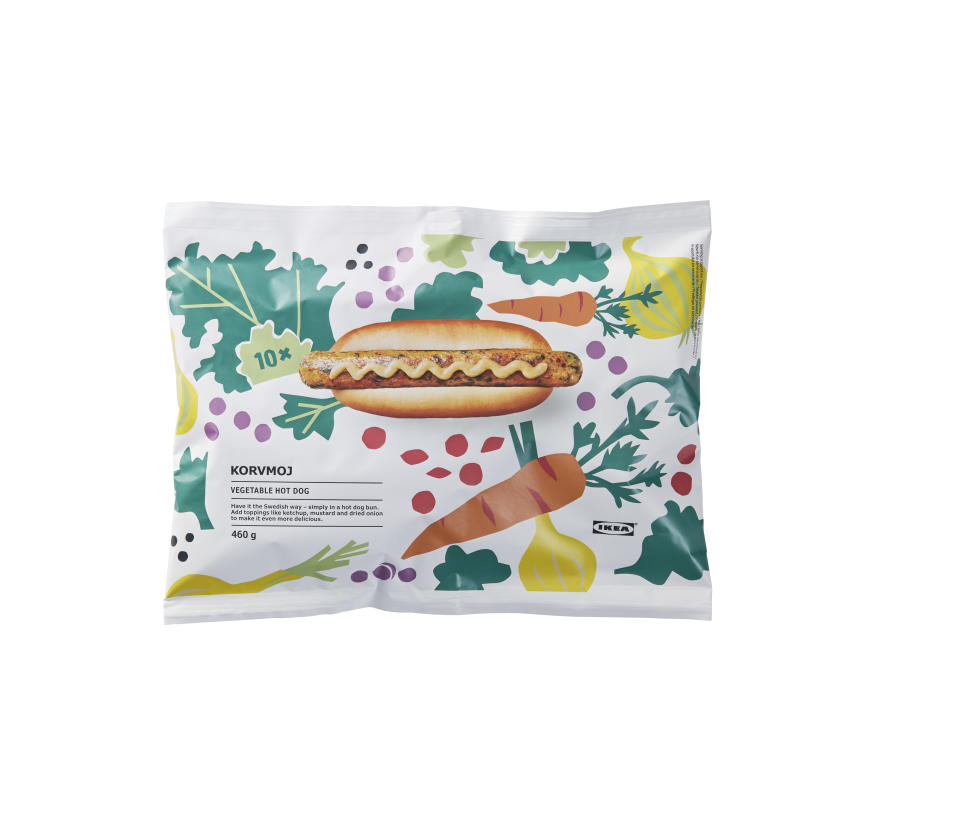 IKEA pack of vegetarian hot dogs