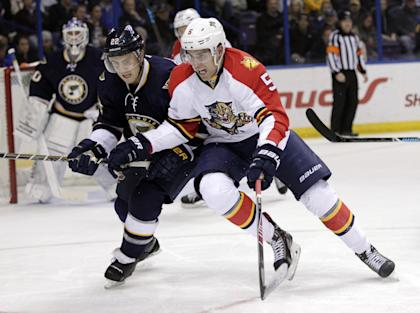 Even more impressive than Ekblad's point total has been his defensive prowess as a teenager. (AP)