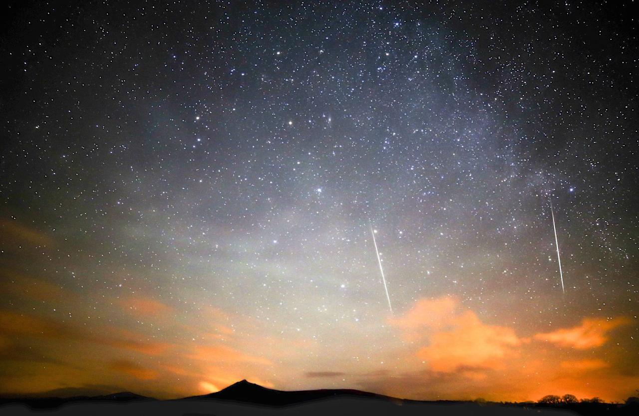 <p>Unlike most meteor showers, the Geminids are associated with an asteroid, rather than a comet. The glowing fireballs should be visible to the naked eye between December 7 and 16, but the best time to catch a glimpse is between 13 and 14 December. (Graeme Whipps/REX/Shutterstock) </p>
