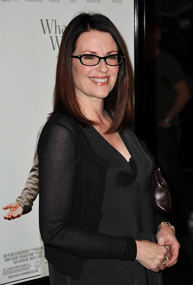 "<a href=""http://movies.yahoo.com/movie/contributor/1800087201"">Megan Mullally</a> at the Los Angeles premiere of <a href=""http://movies.yahoo.com/movie/1810007788/info"">Whatever Works</a> - 06/08/2009"