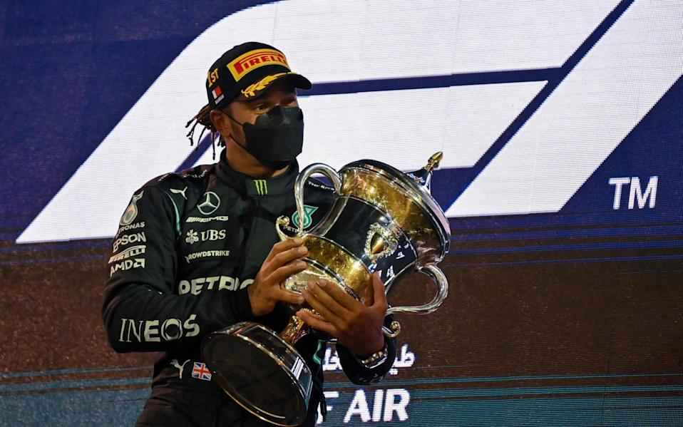 Lewis Hamilton -Lewis Hamilton clings on to deny charging Max Verstappen and take nail-biting Bahrain GP win - AFP