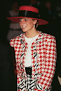 <p>Only Diana could make a muti-colour houndstooth set look this incred, worn in Toronto in October 1991.</p>