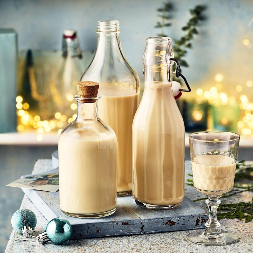 """<p>This gingerbread cream liqueur is a smooth after-dinner tipple or add a dash to hot chocolate - it's a perfect homemade Christmas gift.</p><p><strong>Recipe: <a href=""""https://www.goodhousekeeping.com/uk/christmas/christmas-recipes/a37820727/gingerbread-cream-liqueur/"""" rel=""""nofollow noopener"""" target=""""_blank"""" data-ylk=""""slk:Gingerbread Cream Liqueur"""" class=""""link rapid-noclick-resp"""">Gingerbread Cream Liqueur </a></strong></p>"""