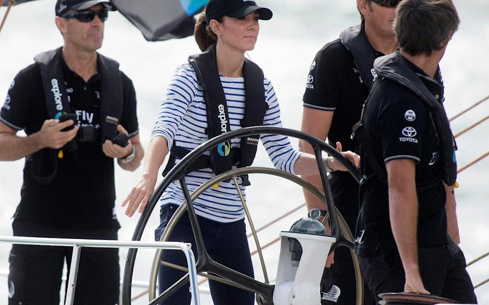 The Cambridges raced against each other on America Cup Yachts in Auckland Harbour in 2014 - Eddie Mulholland