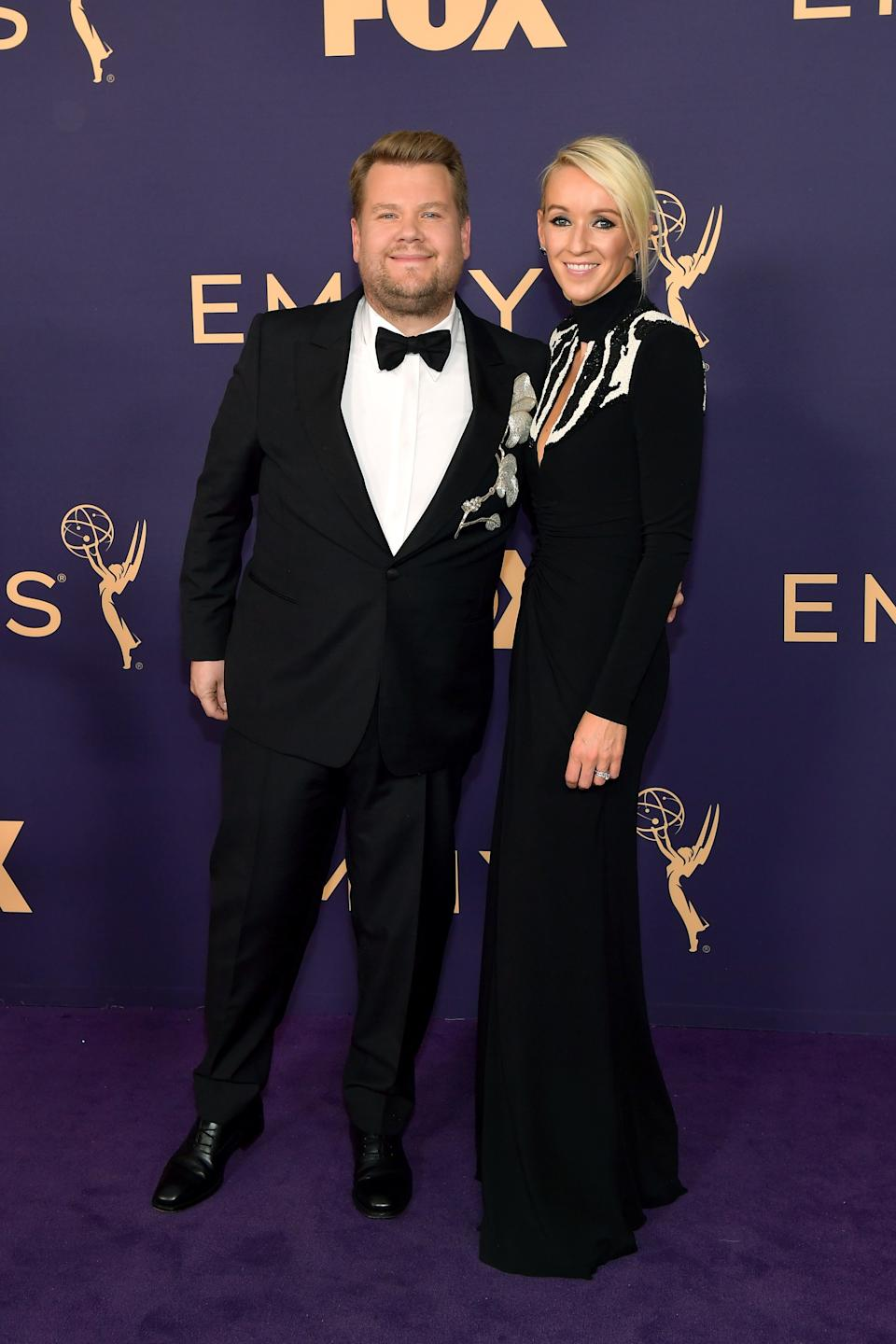 """<h1 class=""""title"""">James Corden in Montblanc jewelry and Julia Carey</h1><cite class=""""credit"""">Photo: Getty Images</cite>"""