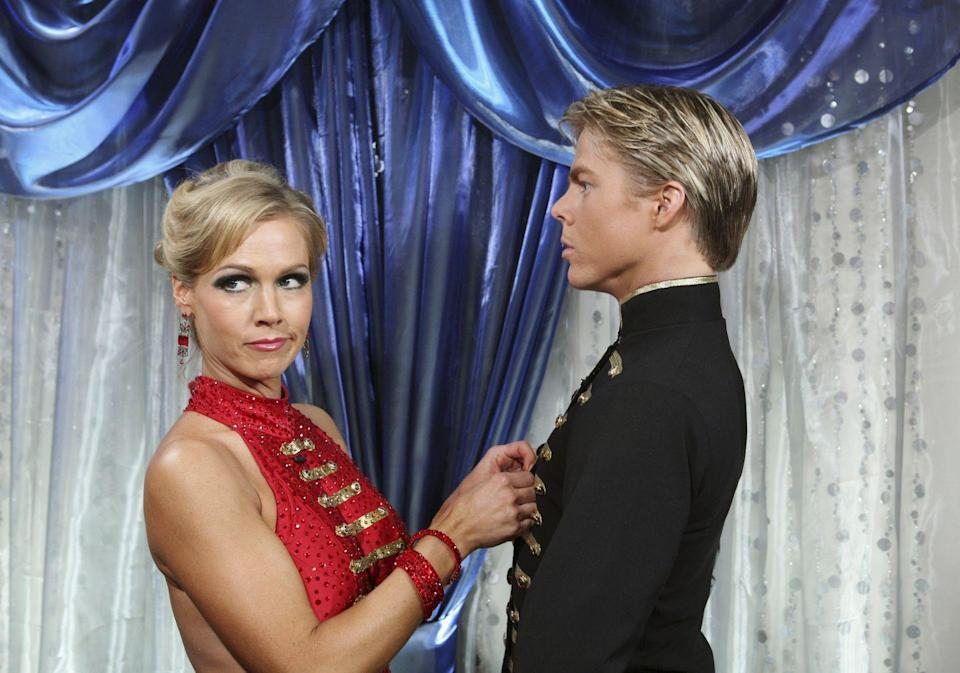 <p>The <em>90210 </em>star partnered with Derek Hough (who, let's be honest, could be her brother) and *almost* cracked the top three. So close, Jen. So, so close.</p>