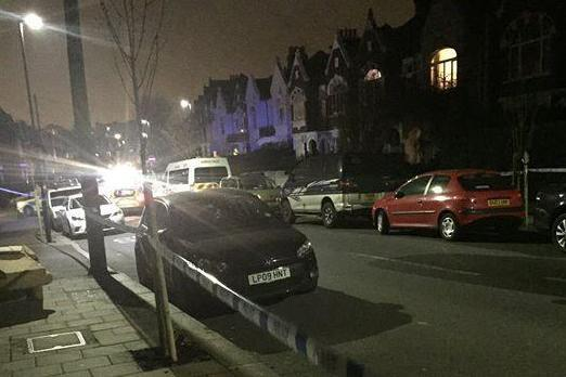 Attack: the road was closed off late into Friday night: Nishaan Saccaram