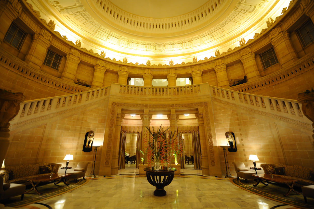 Umaid Bhawan Palace, located in Jodhpur in Rajasthan, India, is one of the world's largest private residences.<br>