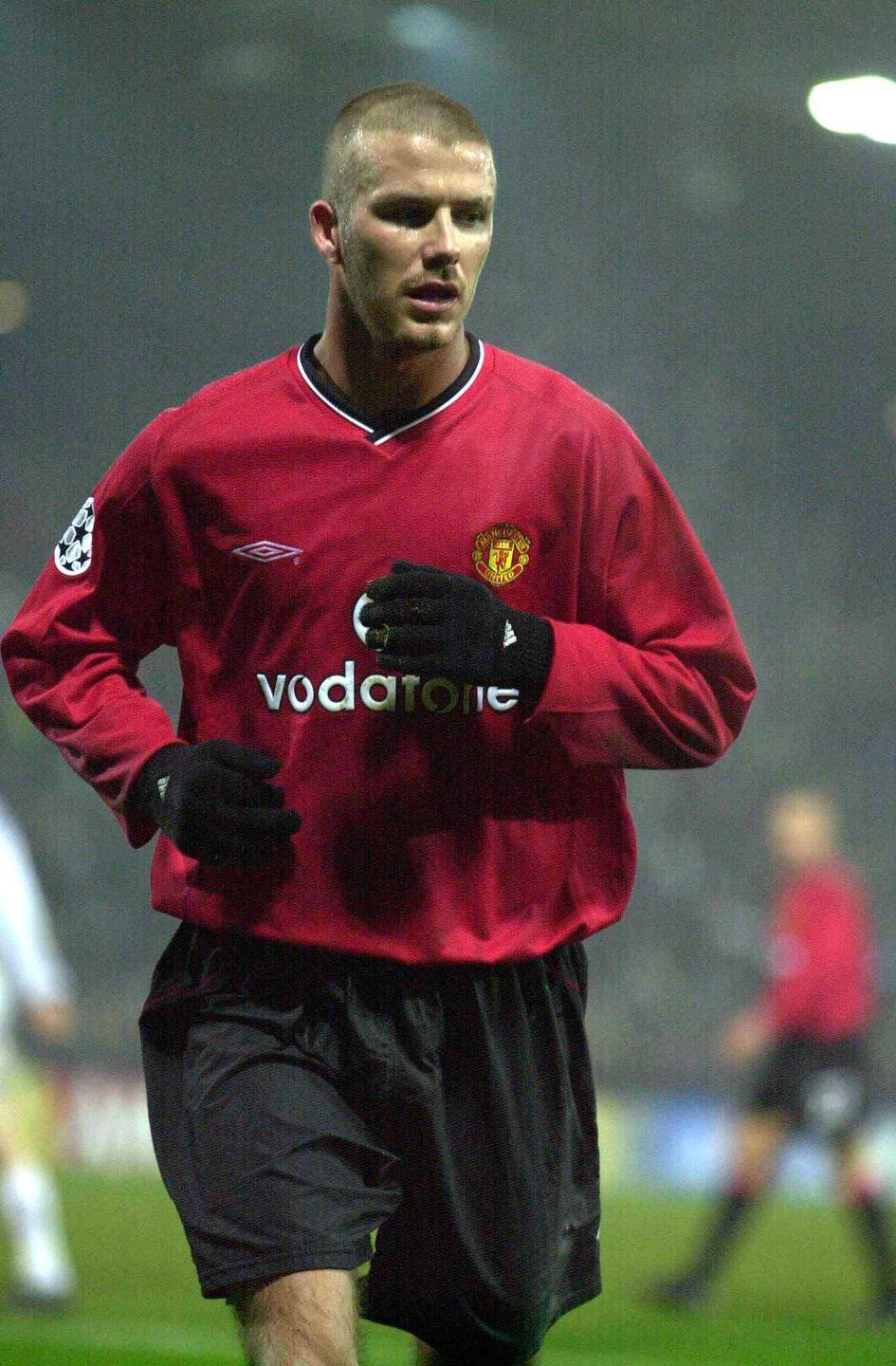 <p><strong>Shaved</strong></p><p>Of all his fashion looks, the soccer star might just be remembered for his younger years on Manchester United, when his shaved head had as much talk as his goals. </p>