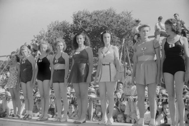 <p>A Fourth of July beauty contest, Salisbury, Md., 1940. (Photo: Jack Delano for Farm Security Administration/ Universal History Archive/UIG via Getty Images) </p>