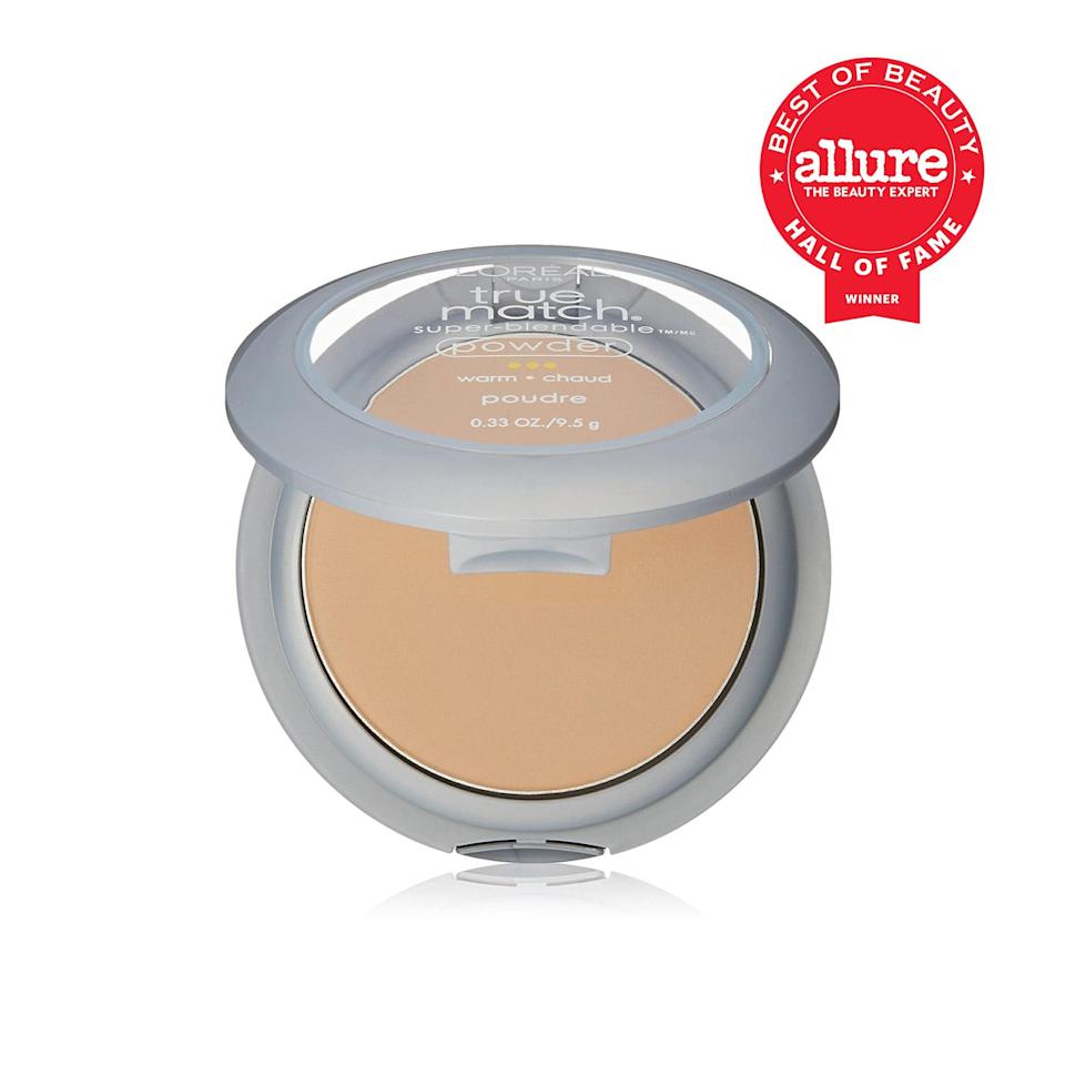 """<p>L'Oréal Paris True Match Super-Blendable Powder's Best of Beauty wins date back <a href=""""https://www.allure.com/review/loreal-true-match-blendable-powder?mbid=synd_yahoo_rss"""" rel=""""nofollow noopener"""" target=""""_blank"""" data-ylk=""""slk:all the way to 2005"""" class=""""link rapid-noclick-resp"""">all the way to 2005</a>, and it's still impressing drugstore beauty shoppers more than a decade and a half later. (Just think of how many other foundations have come and gone in that time.) It keeps wowing us with how strangely un-powdery (read: undetectable) it is, and if redness is one of your biggest frustrations, this pressed formula will become one of your biggest allies.</p> <p><strong>Best of Beauty Awards: 7</strong></p>"""