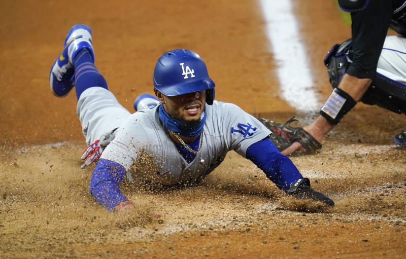 Mookie Betts and the Dodgers are favorites to win the World Series. (AP Photo/David Zalubowski)