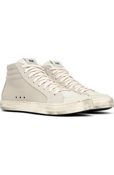 <p><span>P448's Skate High Top Sneaker</span> ($298) will definitely give the neutrals section of your wardrobe a boost.</p>