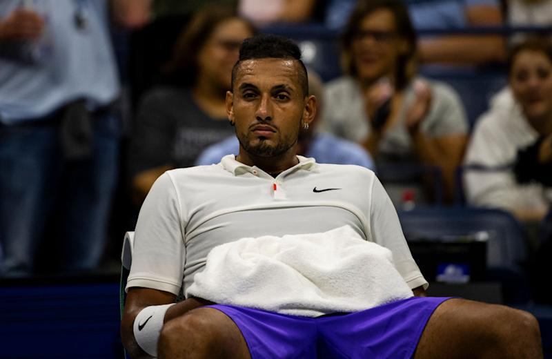 Nick Kyrgios at the US Open. (Getty Images)