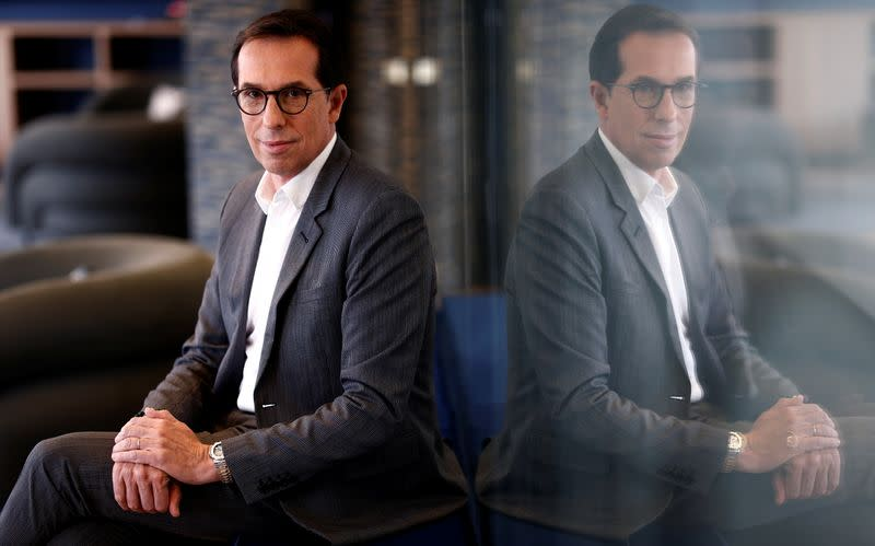 FILE PHOTO: L'Oreal CEO Hieronimus poses after an interview with Reuters