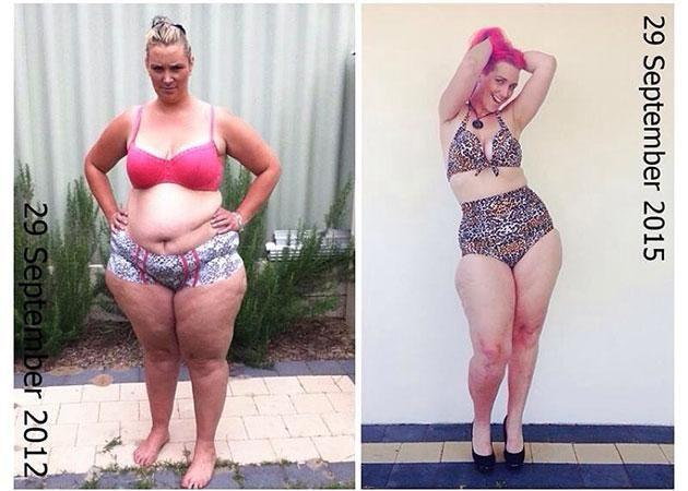 Now she's lost the weight. Source: Caters/Supplied