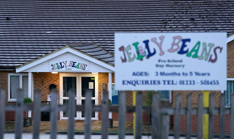 Jelly Beans Day Nursery in Ashford, Kent, which has been closed after a child died following a medical emergency (Gareth Fuller/PA) (PA Wire)