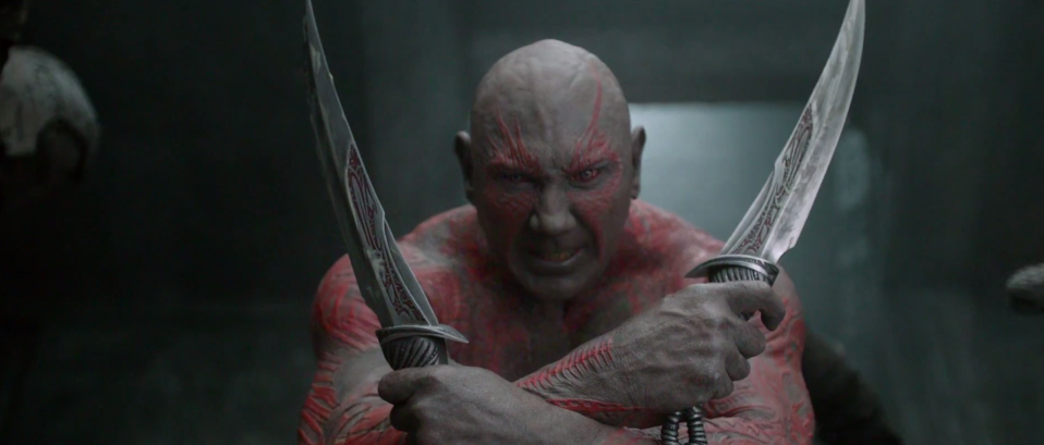 Bautista as Drax in Guardians of the Galaxy (Credit: Disney)