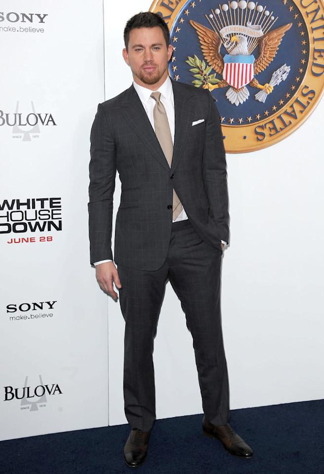 June 25, 2013: Channing Tatum attending the 'White House Down' premiere in New York City.