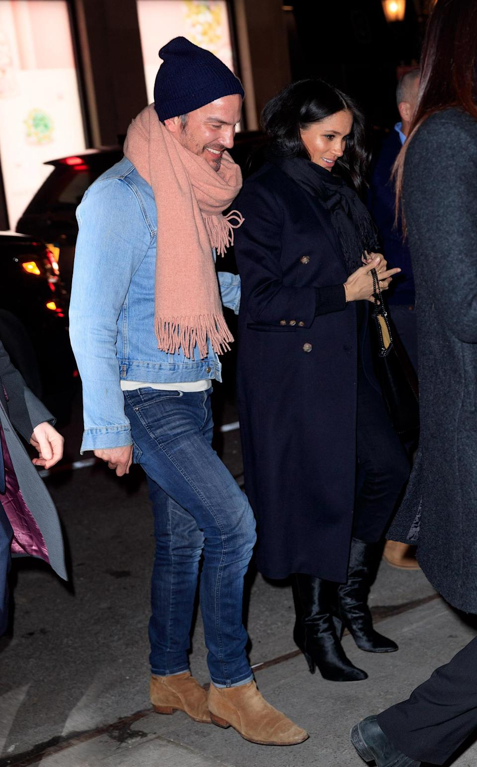 Markus Anderson and Meghan in New York on Tuesday evening [Photo: Getty]