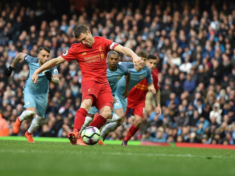 Milner gave his side the lead from the spot (Getty)