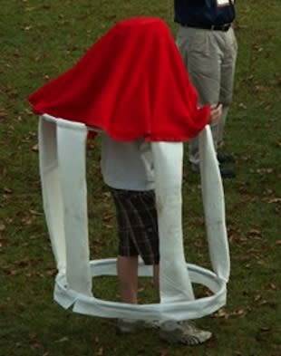 How does one represent a gazebo in fuzzy fashion? Apparently like this — Key School