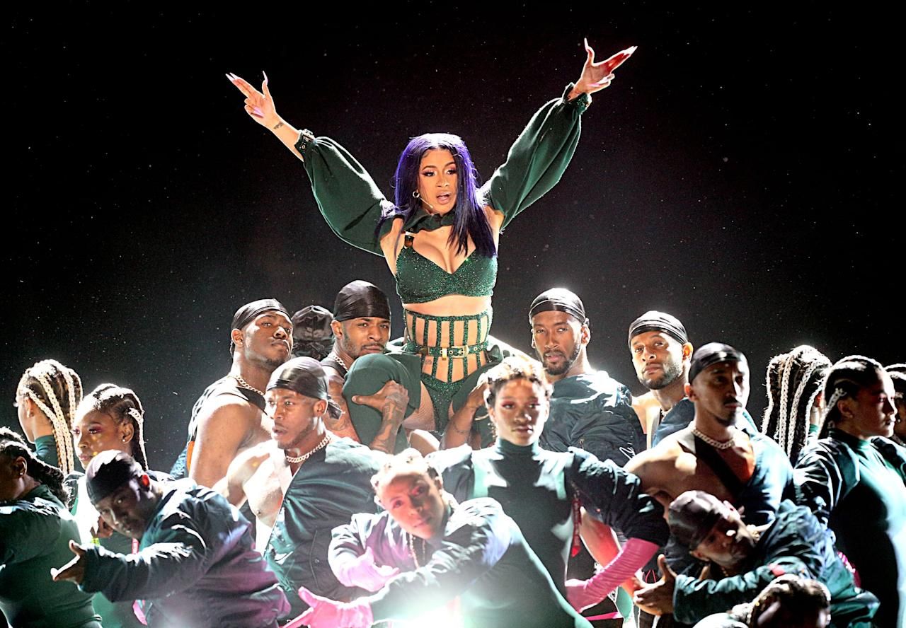 This Dedicated Cardi B Fan Made Their Love Very Permanent: Grab A Fan Because Cardi B's Sexy BET Awards Performance