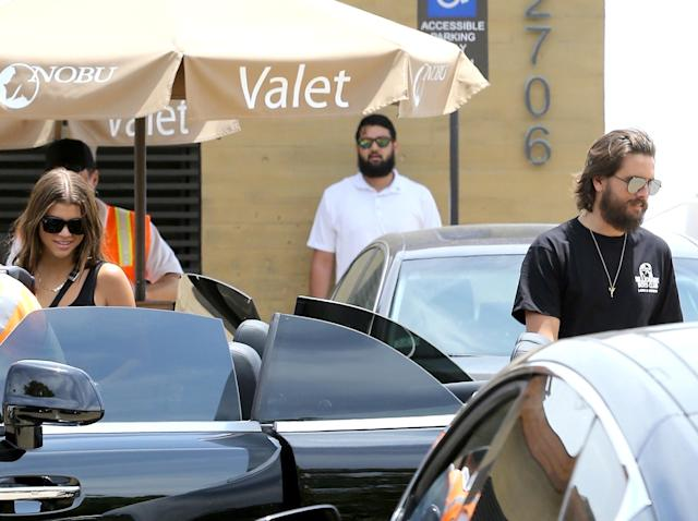 Scott Disick and Sofia Richie quash breakup rumors as they leave Nobu Malibu together on June 4, 2018. (Photo: Backgrid)